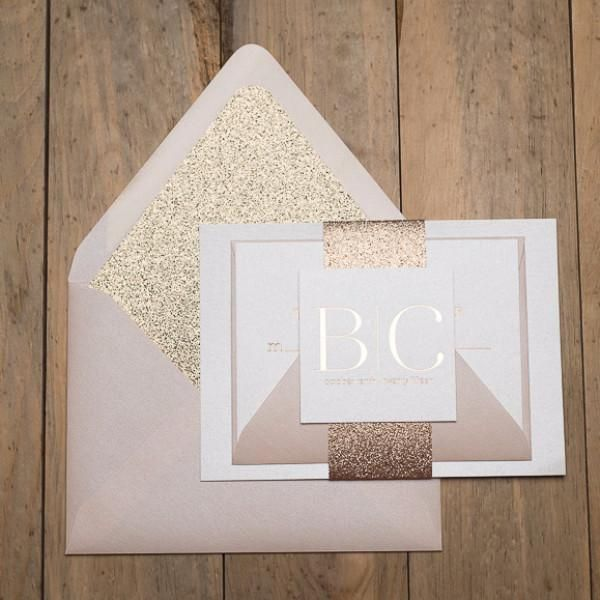 BLAIRE Suite STYLED Glitter Package Wedding InvitationsWedding