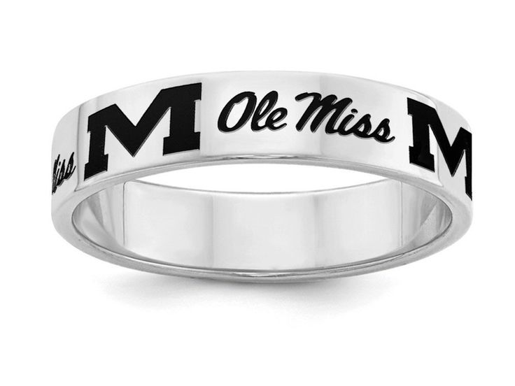 Mississippi Ole Miss Rebels Ring | Sterling Silver | 5mm Width | Officially Licensed | Band Style by CollegeElegance on Etsy https://www.etsy.com/listing/287774205/mississippi-ole-miss-rebels-ring