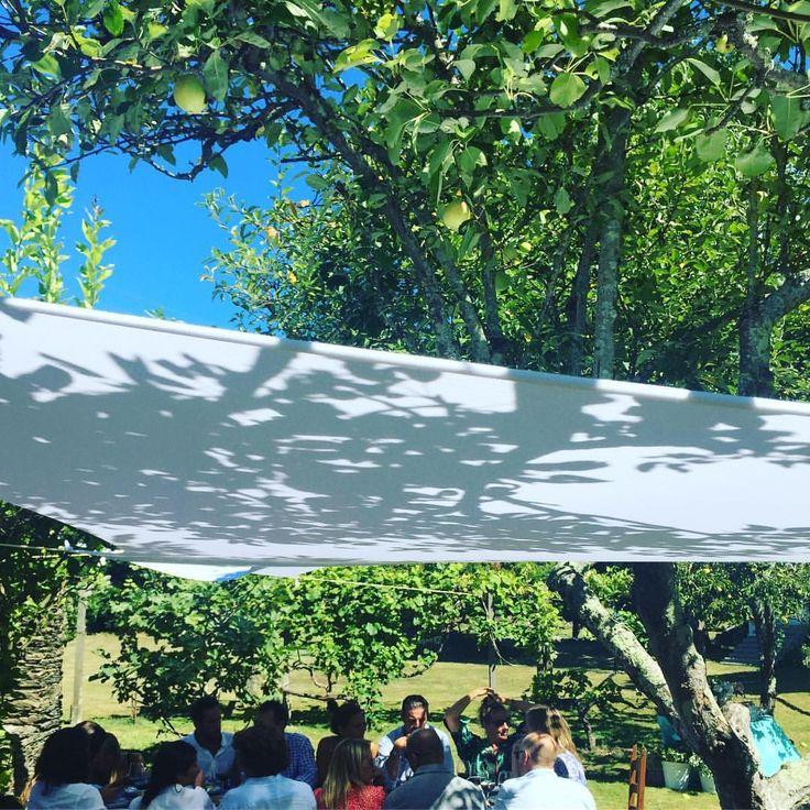 """55 Me gusta, 1 comentarios - La casa de la tía Julita (@tiajulita) en Instagram: """"Rincones bonitos que hay que respetar ayudando con una vela para potenciar la sombra de los árboles…"""""""