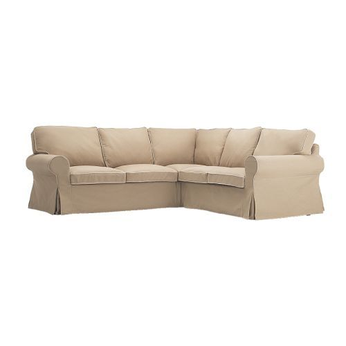 But what would probably best suit is a sofa with slipcovers. The solid white covers are 200$ less - how hard would it be to dye those?