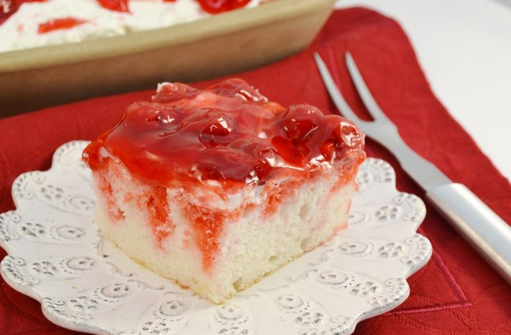 If you haven't tried or made a poke cake, or are looking for the perfect holiday dessert, then do we have something special for you! This Cherry Dream Poke Cake recipe makes for a heavenly treat, a white cake infused and topped with delicious cherry flavors. Just make sure to grab a slice while you