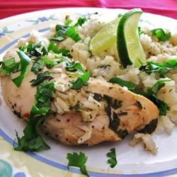 """Slow Cooker Lime Chicken with Rice   """"Love this recipe, pretty much as is other than tripling the garlic ;) I make it at least once a month."""""""