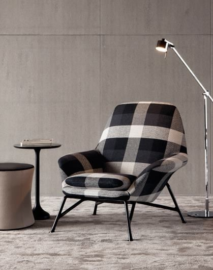'prince' armchair designed by italian architect & designer rodolfo dordoni (b.1954) for minotti