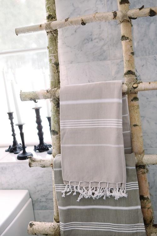 Tree Branch Towel Rack Or Magazine Rack Bathrooms
