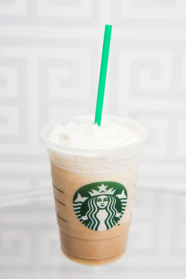 Vanilla Caramel Frappuccino  Add caramel drizzle to the bottom of a cup, and then make a Vanilla Bean Frappuccino to pour on top of the caramel drizzle.