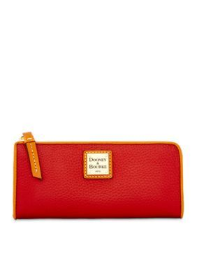 Dooney  Bourke Wine Leather Zip Wallet