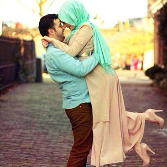 Casais muçulmanos bonitos e românticos