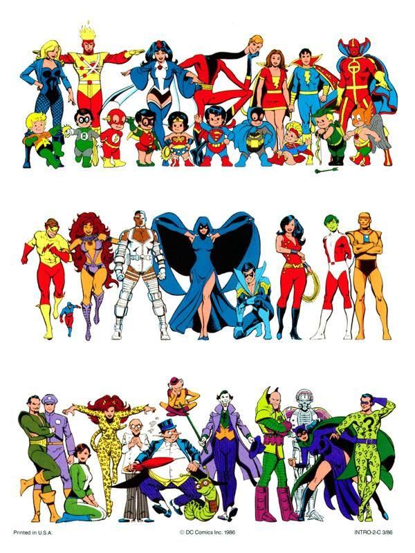 DC Comics Style Color Guide 1986//José Luis García-López/G/ Comic Art Community GALLERY OF COMIC ART