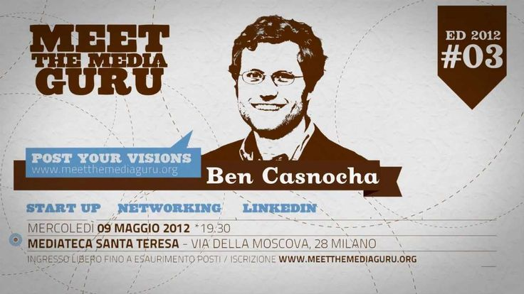 "CASNOCHA :: NETWORKING E START-UP Mercoledì 9 MAGGIO 2012 Meet the Media Guru presenta Ben Casnocha che parlerà di networking e start-up  Video a cura di www.uramaki.tv Licenza CC music ""Swimming in Turpentine (Instrumental Version) by Josh Woodward"""