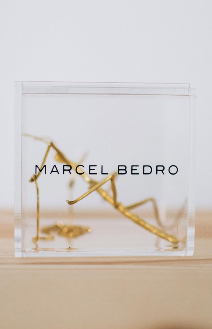 MARCEL BEDRO Jewellery. Stick Insect Necklace, 925 gold plated silver