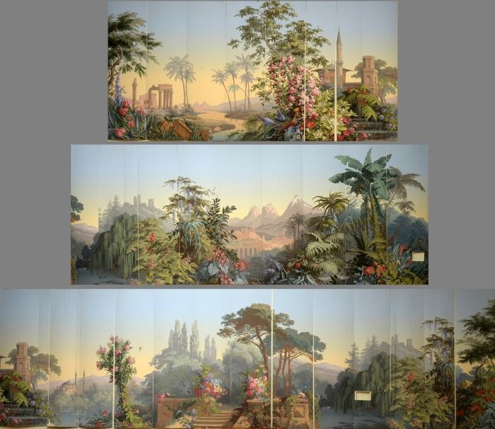 1000 images about papeles pintados de zuber on pinterest for Colonial mural wallpaper