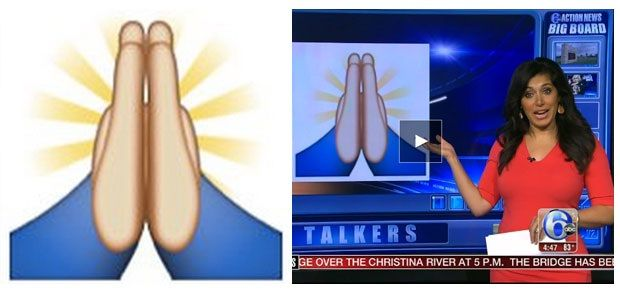 Has your whole life been a lie? Is the praying emoji actually just a high five?