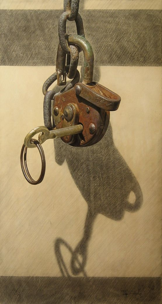 The Key by boykokolev {Boyko Kolev of Bulgaria} on deviantART ~ hyper-realistic art using oil & pencils on canvas