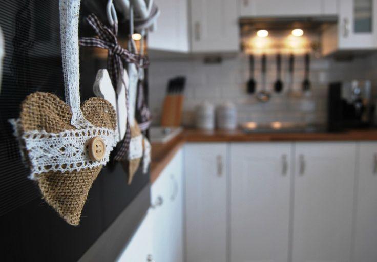 Biała kuchnia.   White cosy kitchen