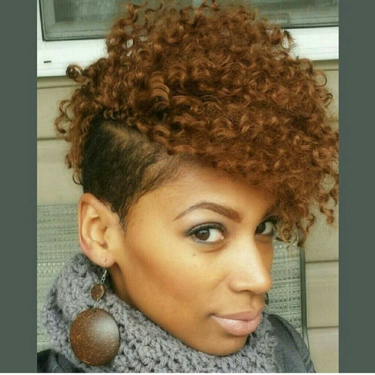 shaved mohawk naturalista curly