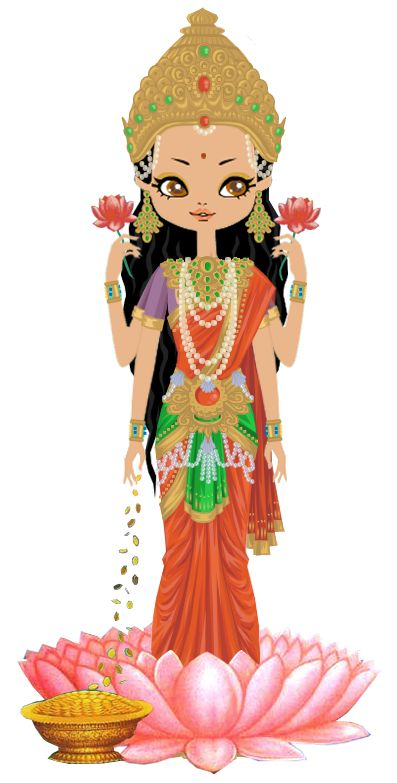 Goddess Lakshmi by marasop.deviantart.com on @DeviantArt