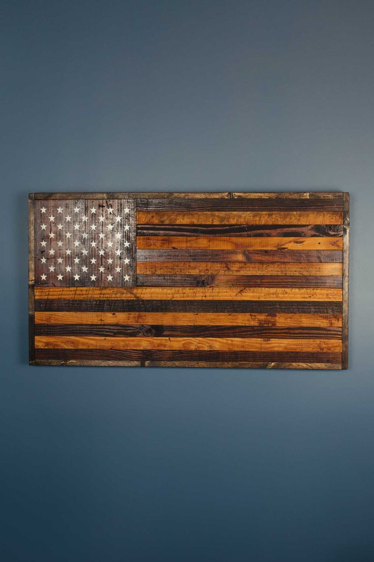 Reclaimed Barnwood Rustic American Flag