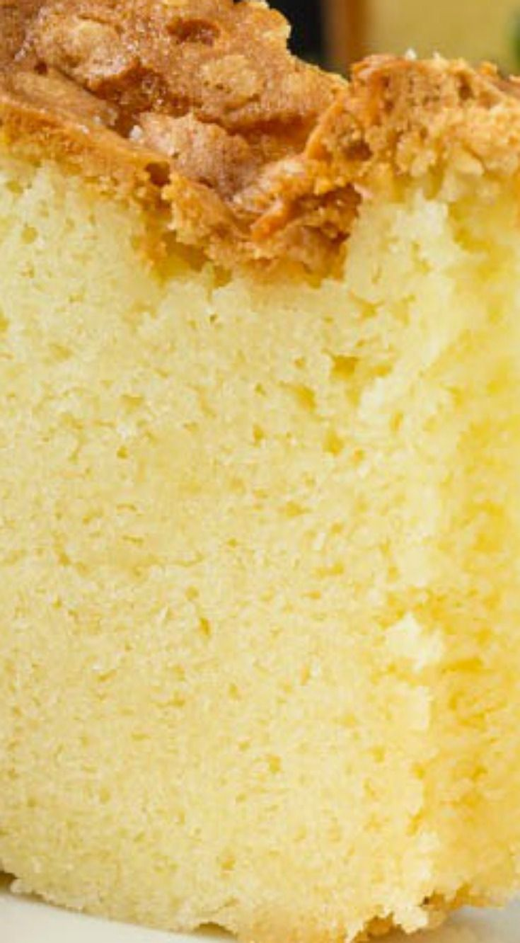 Mile High Pound Cake ~ A delish Old-Fashioned Pound Cake... The batter is like silk. It's fluffy, yet rich. It's smooth and light, but has a decadent flair.
