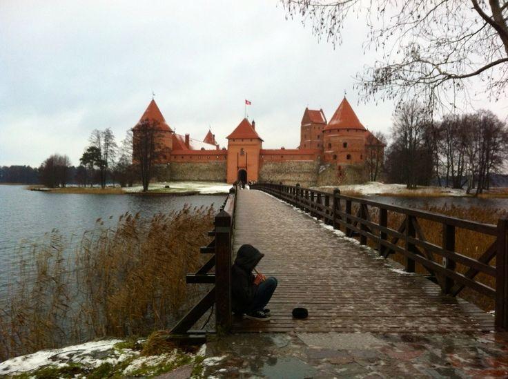 A boy's magic flute in Trakai