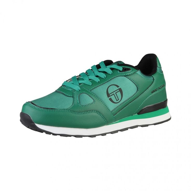 Sergio Tacchini - Chaussures de tennis basses à lacets - empeigne en cuir synthétique - double stretching - semelle intérieure rembourrée en tissue - semelle en caoutchouc  - interne: tissu size 7-11