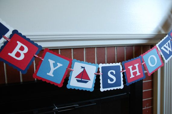Nautical Baby Shower  Banner Sailboat Baby Shower by GiggleBees, $25.00