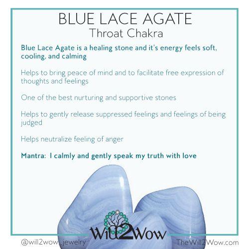 Blue Lace Agate   Custom Healing Crystal Bracelets