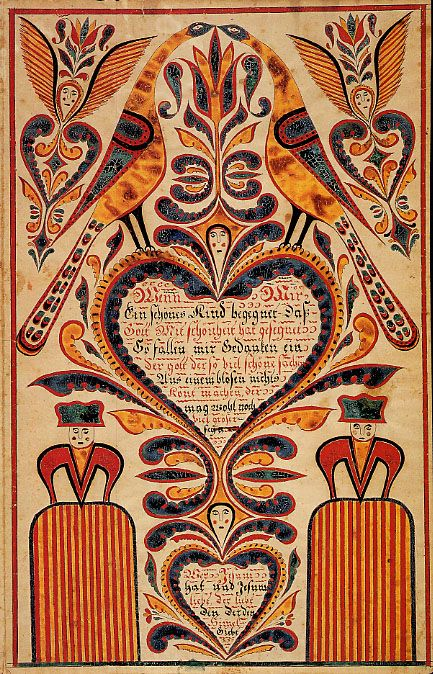 Pennsylvania German Godshall Fraktur