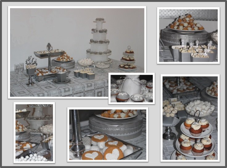 Zilver & Wit - Sweet Table