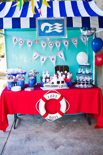 Photo 2 of 52: Nautical/Cruise Ship, The Love Boat / Farewell Party A Love Boat/Bon Voyage Party | Catch My Party