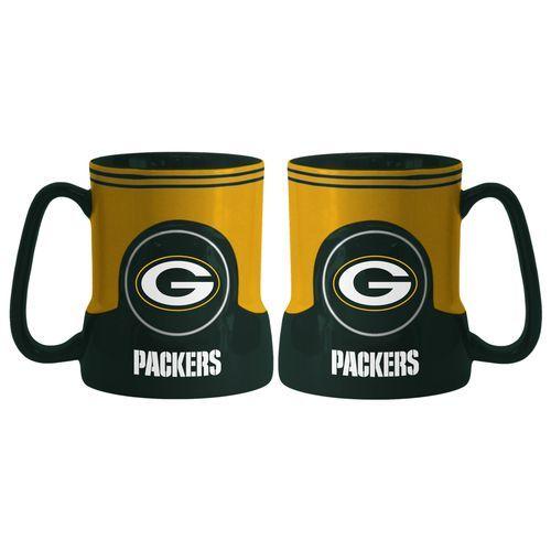 Green Bay Packers Coffee Mug - 18oz Game Time (New Handle)