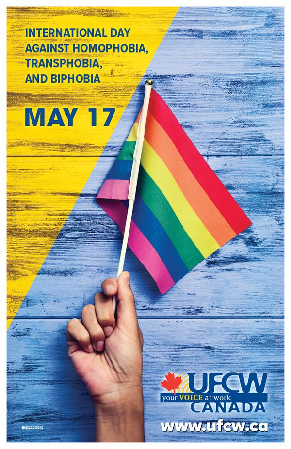 May 17, 2017 - International Day Against Homophobia, Transphobia, and Biphobia