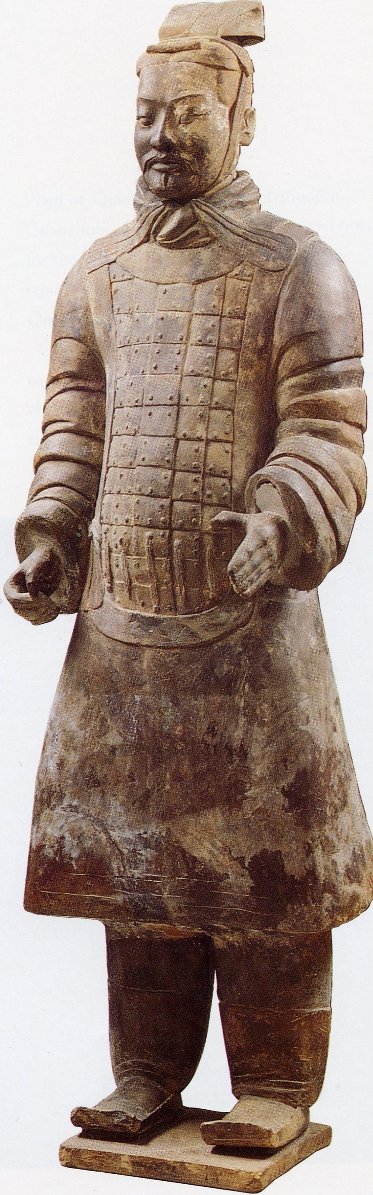 "Pottery Figure of Military Office, H: 71.3"" One of the terracotta warriors"