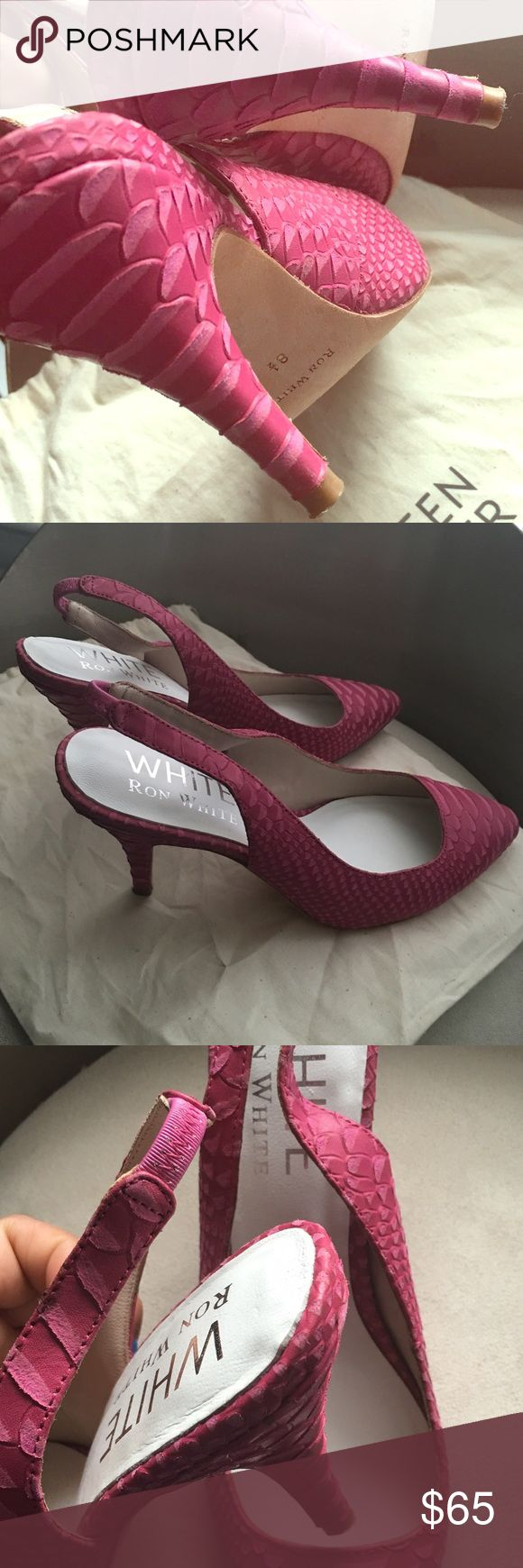 """Lovely Ron White Pink! Beautiful pink leather Ron White heels! (approx 3.5"""") - worn once Ron White Shoes Heels"""