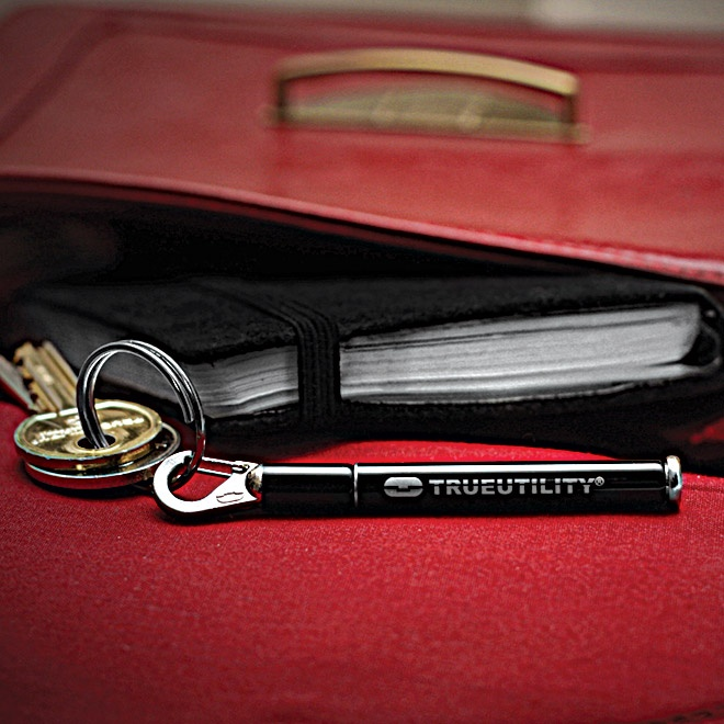 A perfect gift... for almost anyone!  Available in black or ivory.  £8  http://www.trueutility.com/pocket-tools-store/TU256-keyring-pen.html