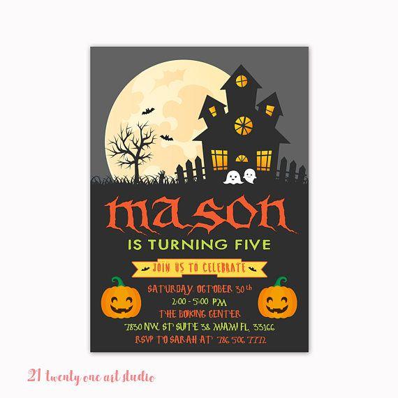 Best 20+ Halloween Birthday Invitations Ideas On Pinterest
