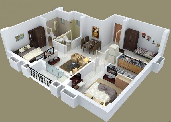Amazing 3d Floor Plan Design Ideas Engineering Discoveries House Floor Plans Bedroom House Plans Home Design Plans