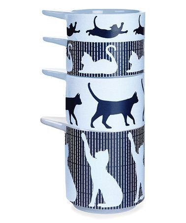 Loving this Crazy Cat Stackable Measuring Cup Set on #zulily! #zulilyfinds