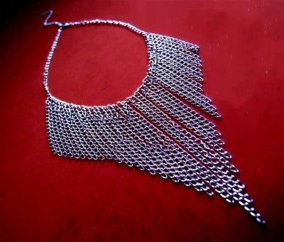 Naszyjnik Choker Kolia z Łańcuszków #naszyjnik #necklace #chain #lancuszek #kolia #choker