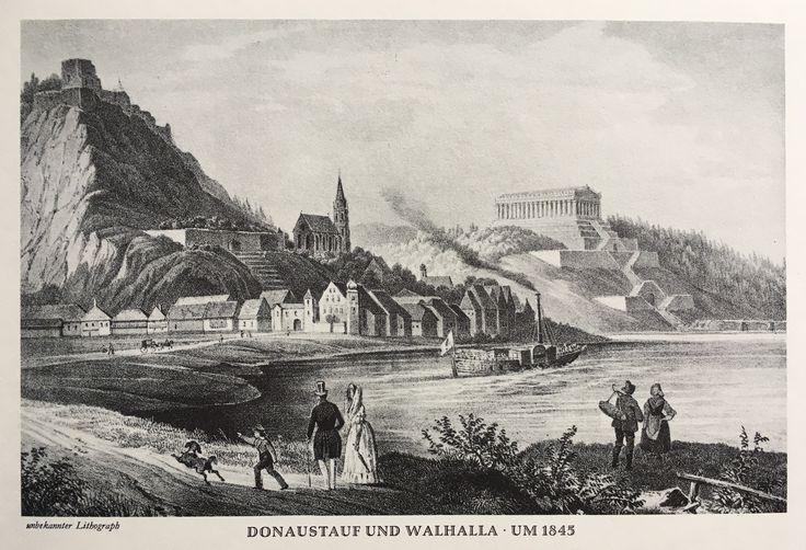 Donaustauf and Walhalla, Germany.  Around 1845