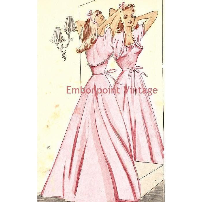 New to EmbonpointVintage on Etsy: Plus Size (or any size) Vintage 1949 Nightgown - PDF - Pattern No 80 Florence (13.11 AUD)