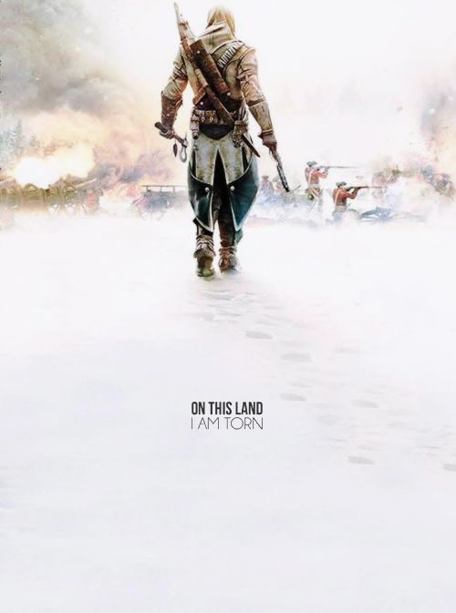 """On this land i am torn"" 