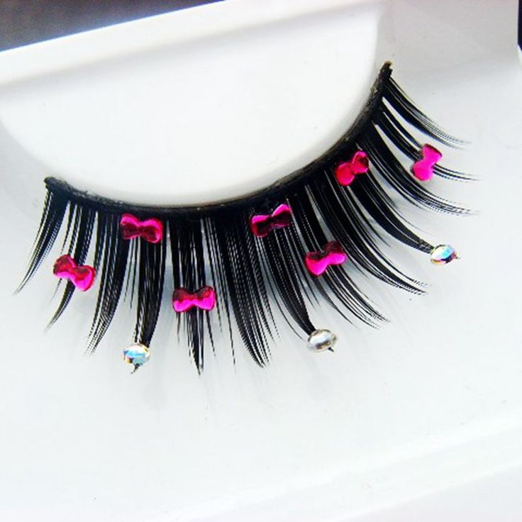 Rhinestone False Eyelashes Cute Rhinestone Exaggerated Fake Eyelashes Artistic Stage Pure Cotton Thread Terrier Makeup Lashes