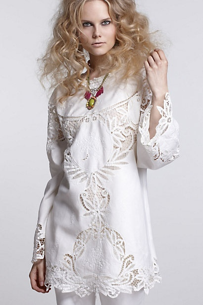 Repurposed Cutwork Tunic-Repurposed Cutwork Tunic