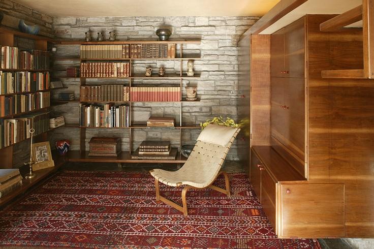 Frank Lloyd Wright Flooring : Third floor study fallingwater frank lloyd wright