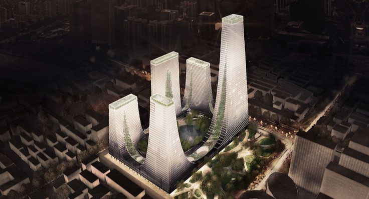Competition-winning designs for the Cradle Towers in Zhengzhou, China