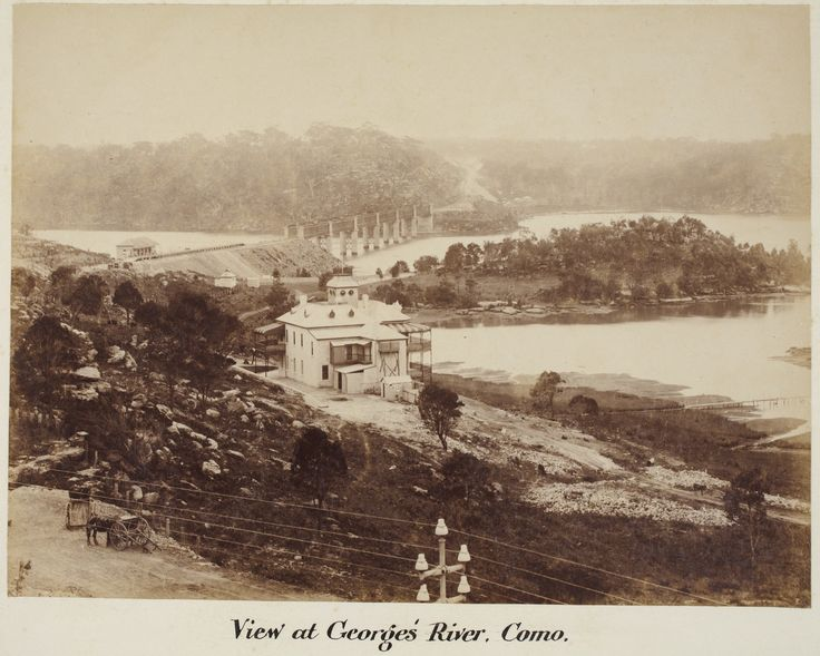 view of the newly built railway and Como Hotel