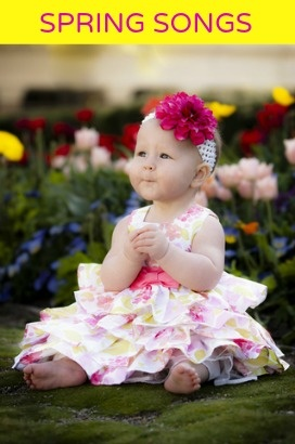 Download Spring songs with lyrics for toddlers, preschool, kindergarten, grade school, ESL and children with special needs. Perfect for homeschool or classroom.