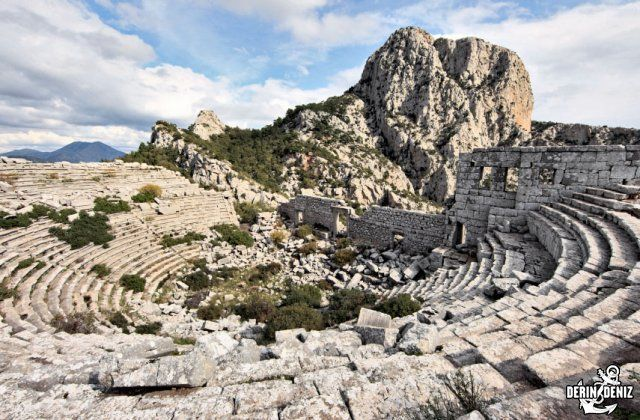 Termessos is an ancient Pisidian city built at an altitude of more than 1000 meters at the south-west side of the mountain Gulluk in Antalya province, Turkey.,  Termessos -  Places to visit -  Antalya, Aperlae, Bodrum, Dalyan, Datça, Demre, Fethiye, Finike, Gokova, Kaunos, Knidos-Cnidus, Loryma, Lydia, Marmaris, Myra, Oludeniz, Olympos, Saklikent, Sedir Island, Telmessos, Termessos, Tlos, Xanthos,