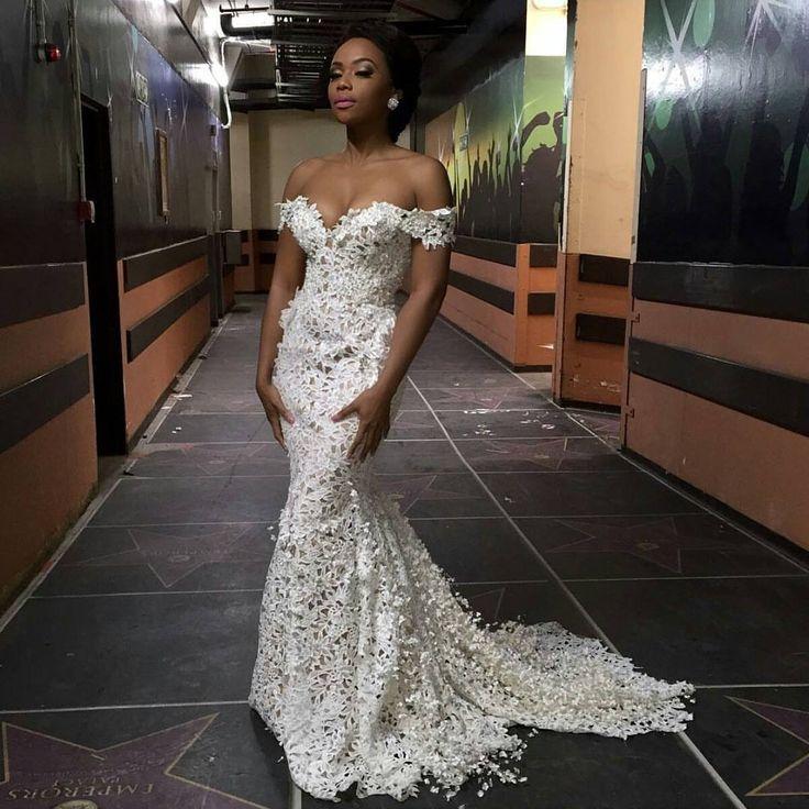 I Do Ghana | Mrs. South Africa host Bonang Matheba wears a piece from @gertjohanncoertzee's 2016 bridal collection