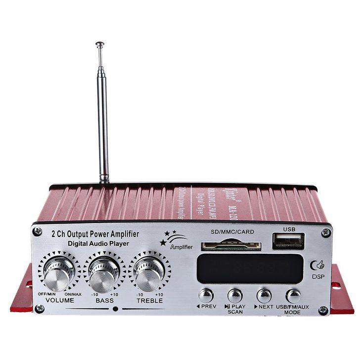 Kinter ma-120 12 v hi-fi amplificador de audio de la ayuda fm sd usb de entrada 2x20 W Diseño de Circuitos de Música Es Compatible Con FM reproductor de Música Tarjeta SD jugando